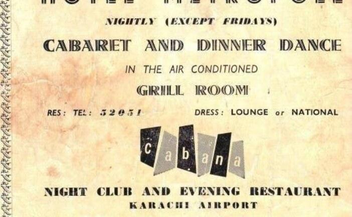 An old advertisement from Hotel Metropole Karachi